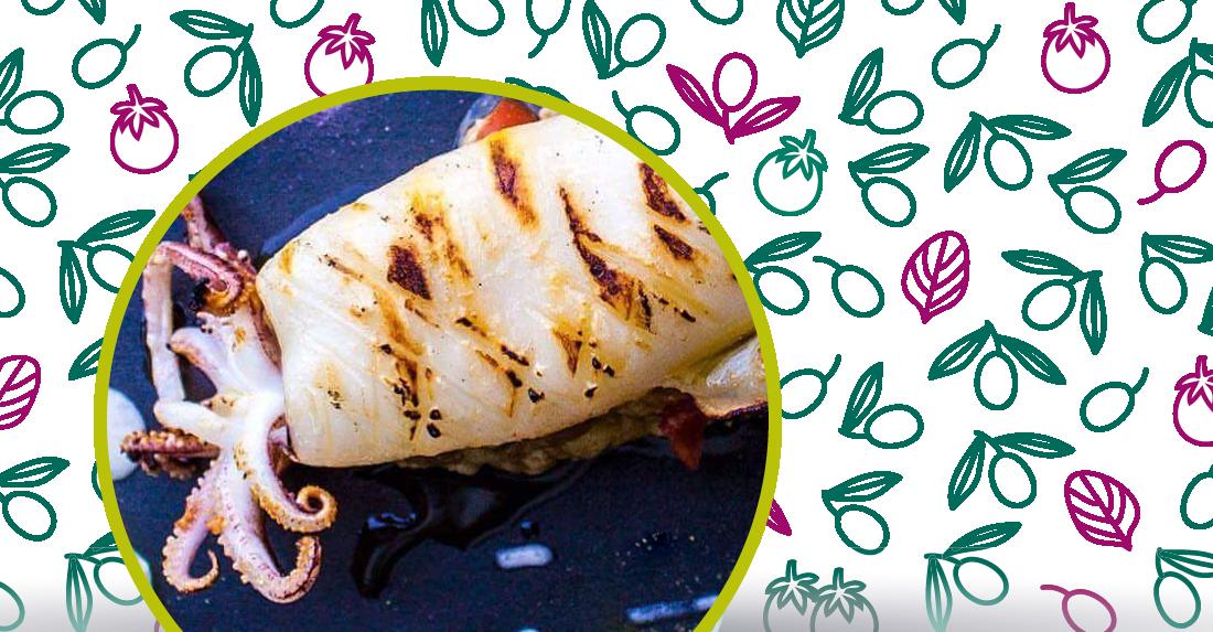 i calamari grigliati con olio d
