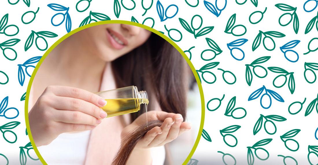 l'olio di oliva sui capelli